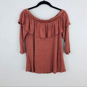 Dolan | Off the Shoulder Ruffle Blouse